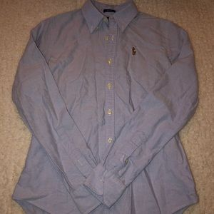 Ralph Lauren button down polo top